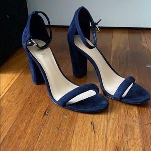 Aldo blue suede heel